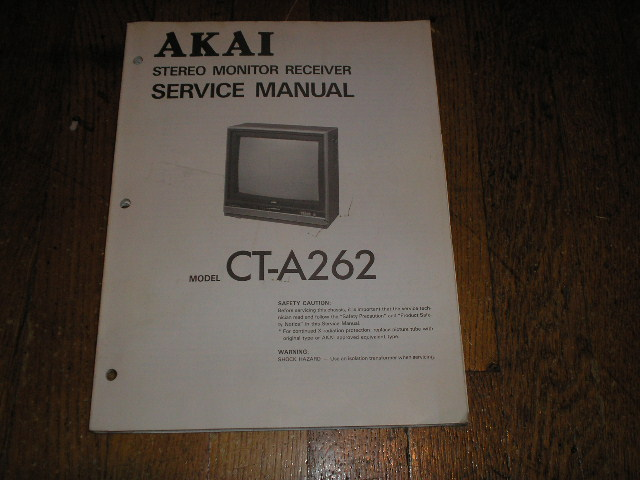 CT-A262 Stereo Monitor Receiver  T V Service Manual