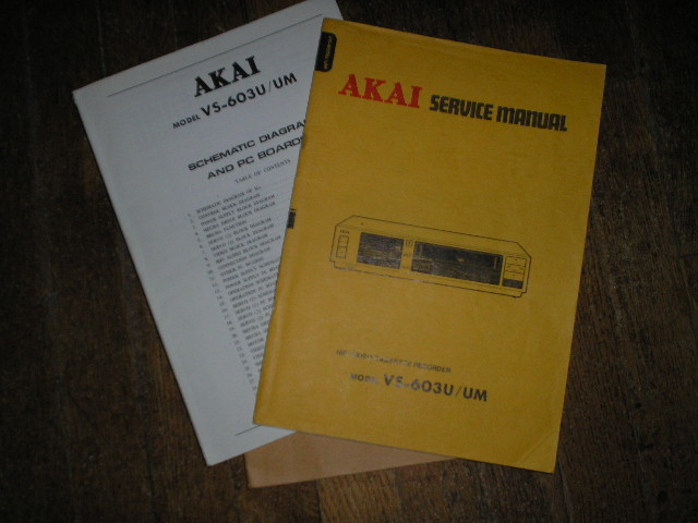 VS-603 VS-603UM  VHS VCR Service Manual...  2 Manuals