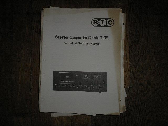 T-05 Cassette Deck Service Manual.