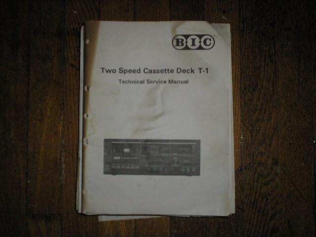 T-1 Cassette Deck Service Manual.