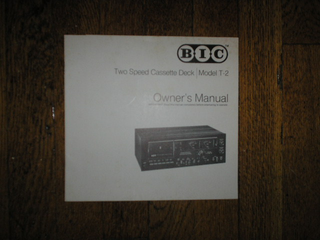 T-2 Cassette Deck Owners Manual.