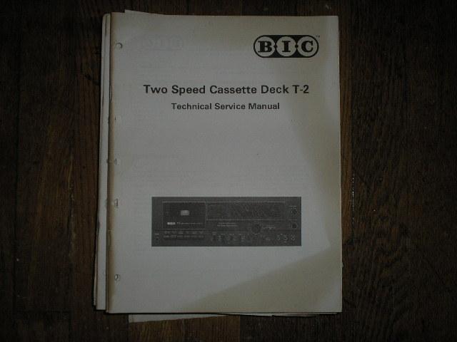 T-2 Cassette Deck Service Manual.