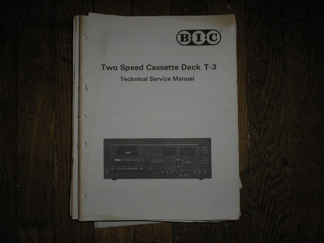 T-3 Cassette Deck Service Manual.