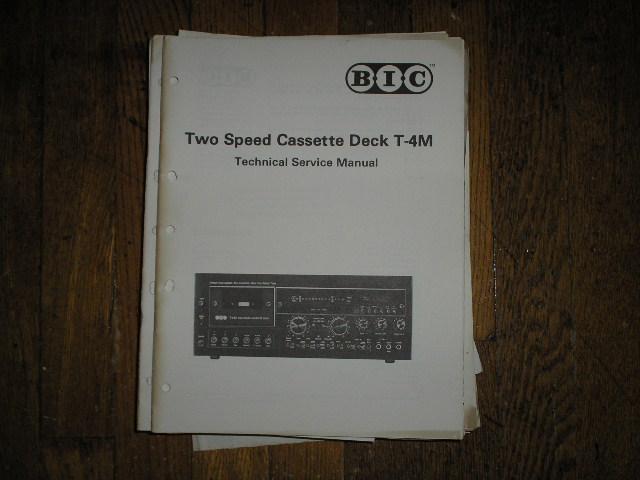 T-4M Cassette Deck Service Manual.