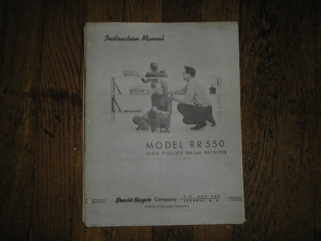 RR550C RECEIVER  Service and Instruction Manual with Schematic