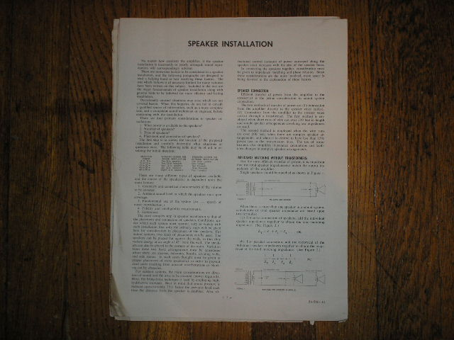 SPEAKER Installation Instruction Manual 2