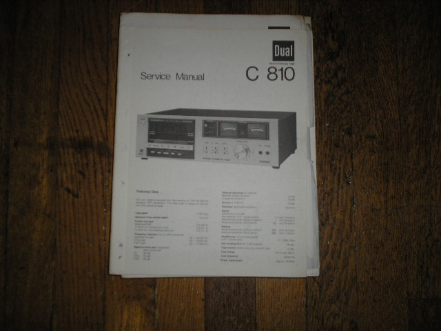 C810 Cassette Deck Service Manual