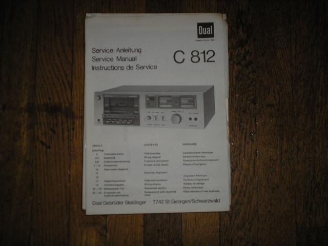 C812 Cassette Deck Service Manual
