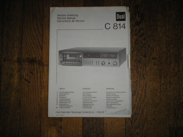 C814 Cassette Deck Service Manual