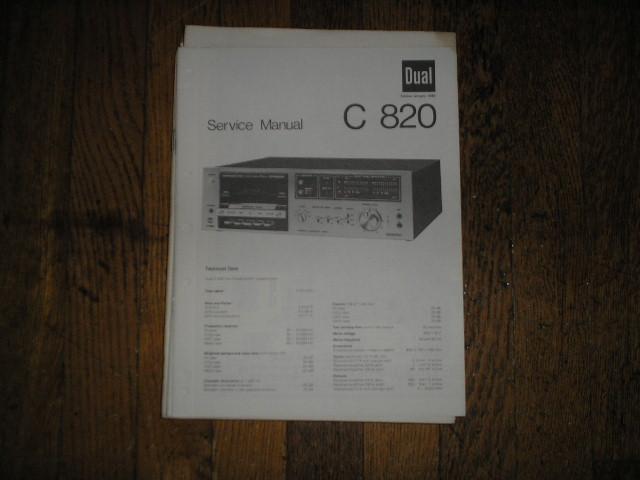 C820 Cassette Deck Service Manual