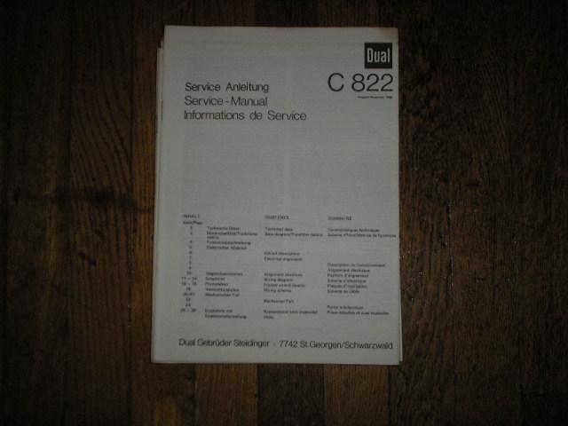 C822 Cassette Deck Service Manual