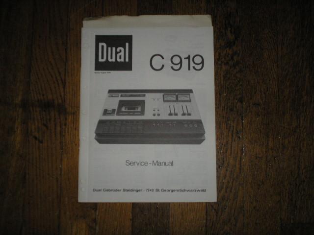 C919 Cassette Deck Service Manual