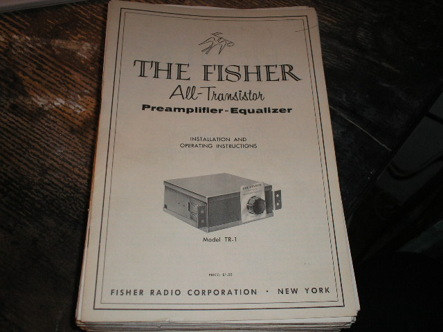 TR-1 PREAMPLIFIER-EQUALIZER Installation Operating Manual with Schematic and Parts List