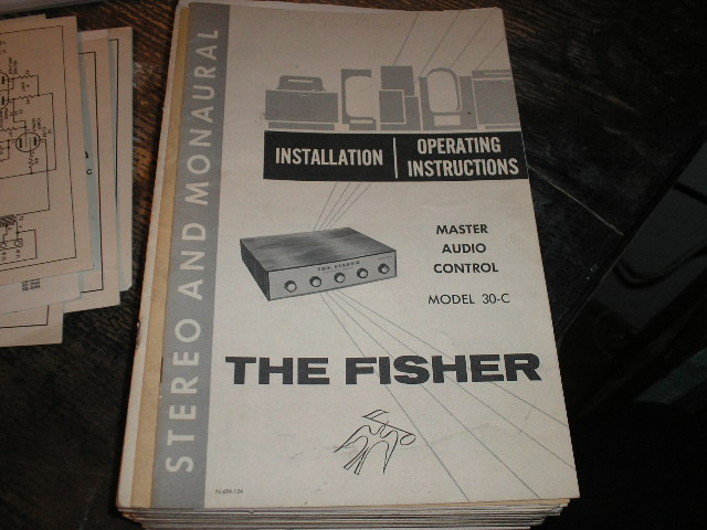 30-C Master Audio Control Amplifier Operating Instruction Manual