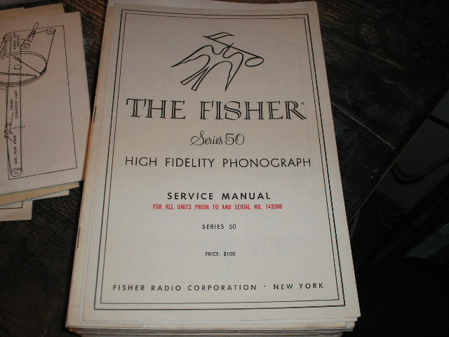 Series 50 Phonograph Service Manual for units with Serial no. up to and 143500