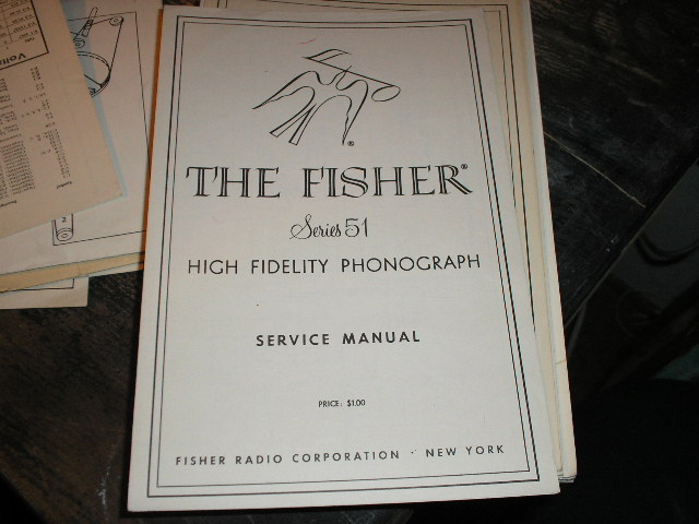 Series 51 Phonograph Service Manual