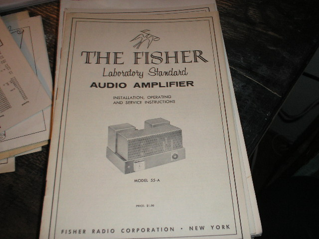 55-A Amplifier Installation Operating and Service Instruction Manual