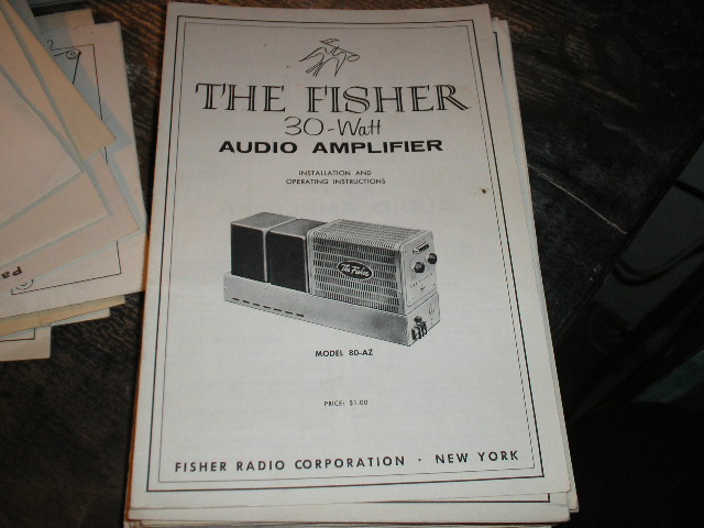 80-AZ Amplifier Installation Operating and Service Instruction Manual