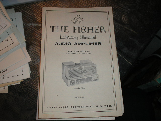 90-A Amplifier Installation Operating and Service Instruction Manual