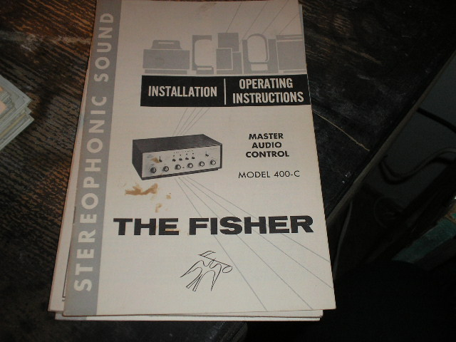 400-C MASTER CONTROL Amplifier Installation Operating and Instruction Manual..