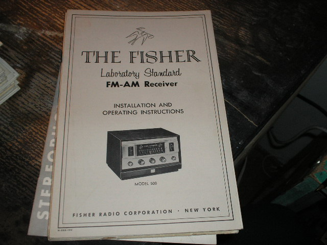 500 FM-AM Receiver Installation Operating and Instruction Manual