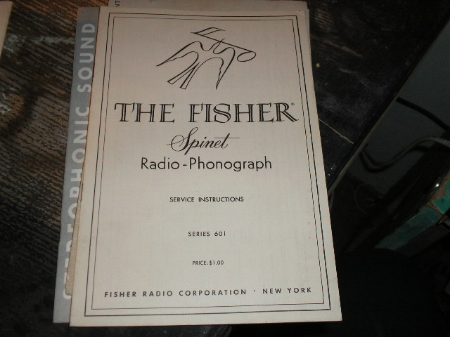 SERIES 601 Spinet Radio-Phonograph Service Instruction Manual..
