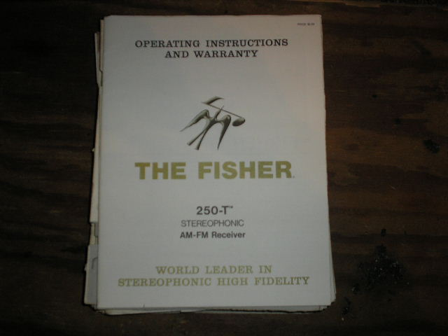 250-T Receiver Operating Instruction Manual