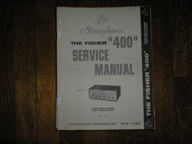 400-C Amplifier Service Manual from Serial no. 10001 - 19999