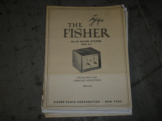 50-F Hi Lo Filter System Service Manual