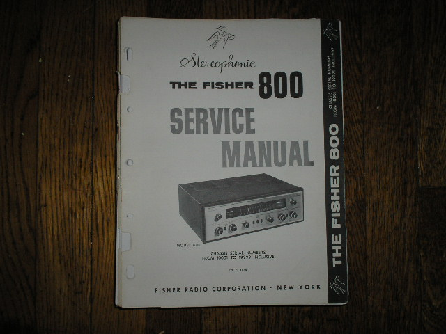 800 Receiver Service Manual from Serial no. 10001 - 19999