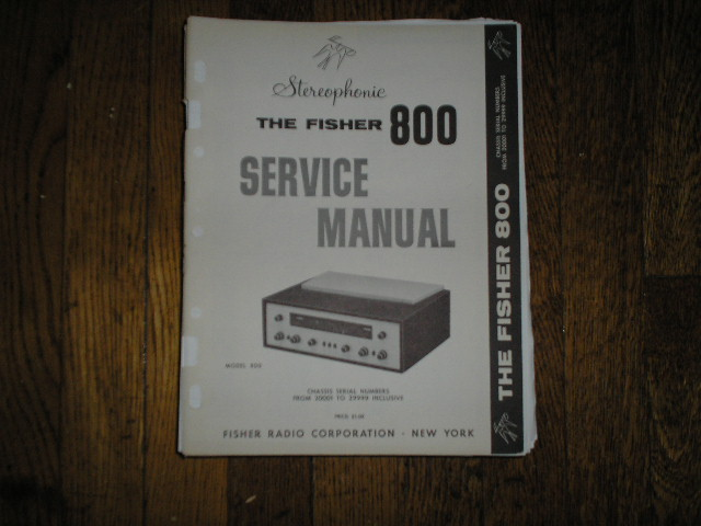 800 Receiver Service Manual from Serial no. 20001 - 29999