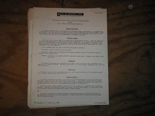 1967 CONSOLE UNITS SERVICE MANUAL