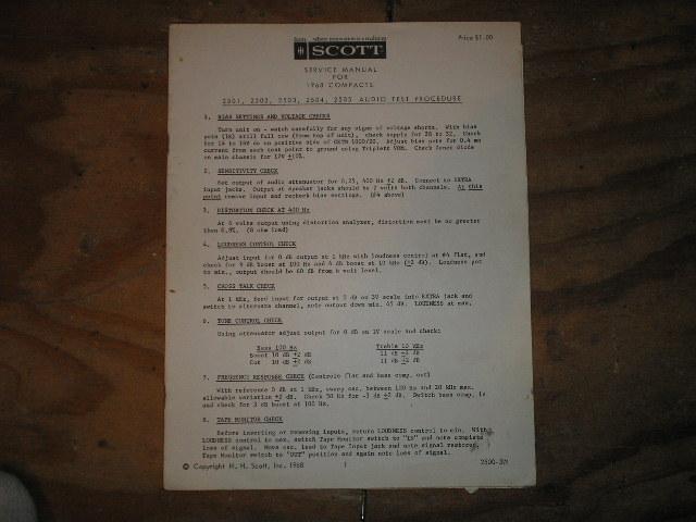 1968 COMPACT UNITS SERVICE MANUAL
