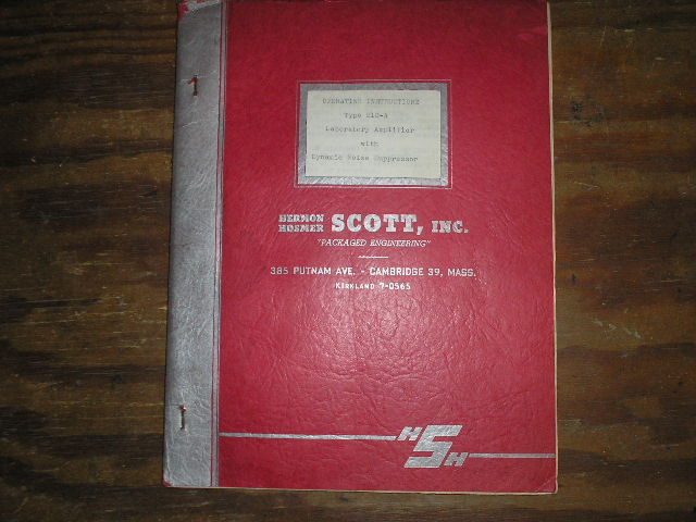 MODEL 210-A Amplifier Service Manual