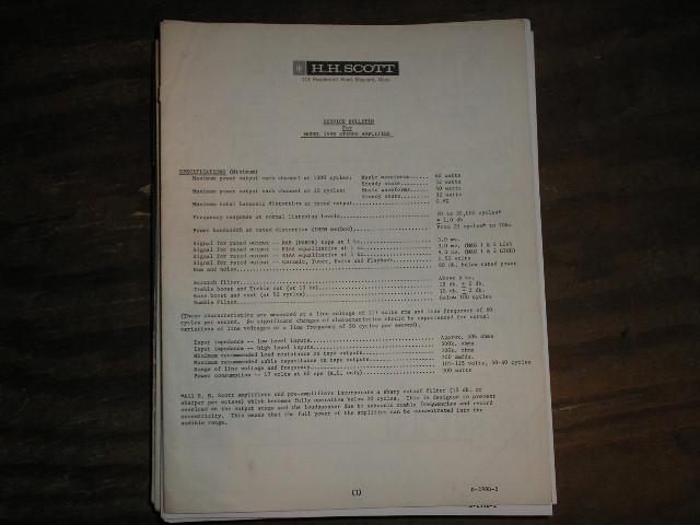 299-D Amplifier Service  Manual..