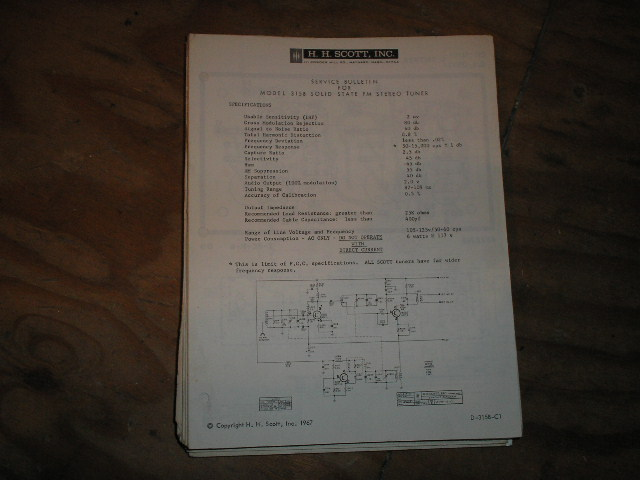 315-B Tuner Service Manual..