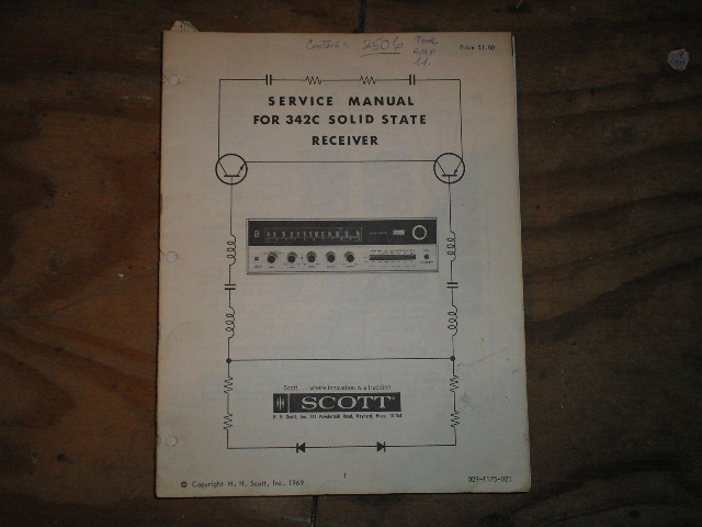 342-C Service Manual.. Schematic is dated September 28th 1963