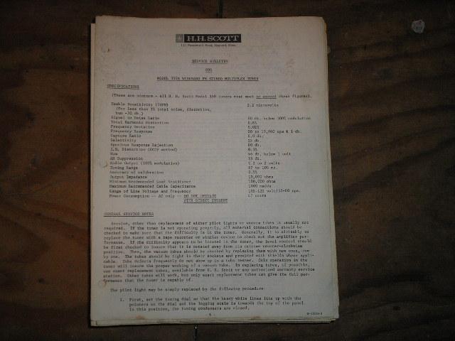 350-B  Tuner  Service Manual