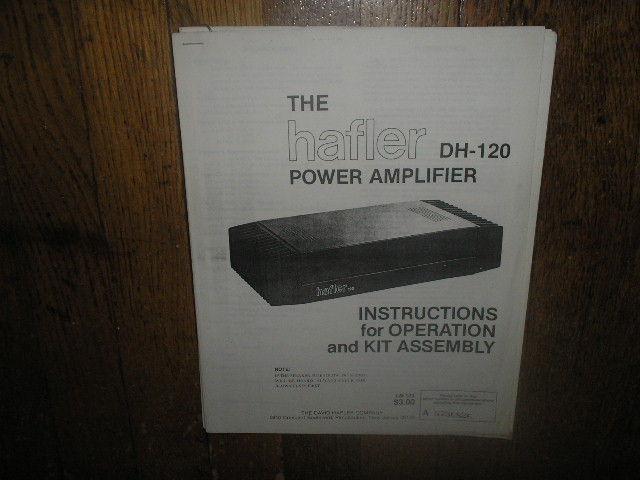 DH-120 Power Amplifier Service Assembly Manual