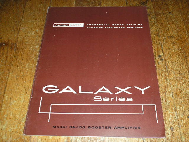 BA-150 Booster Amplifier Service Manual