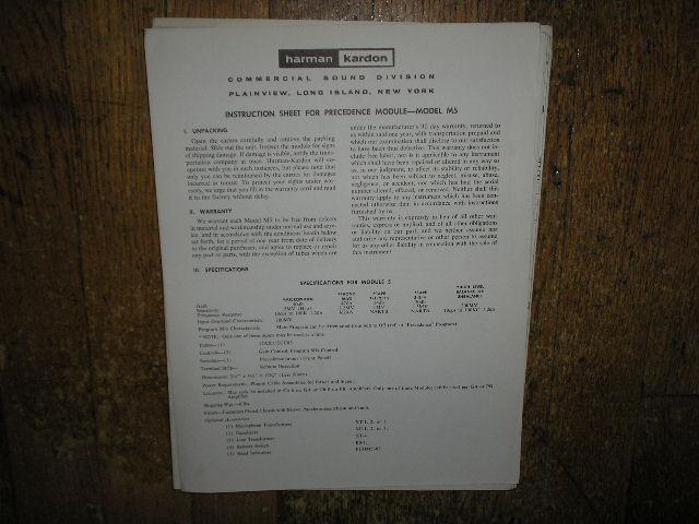 M5 Precedence Module Service Information