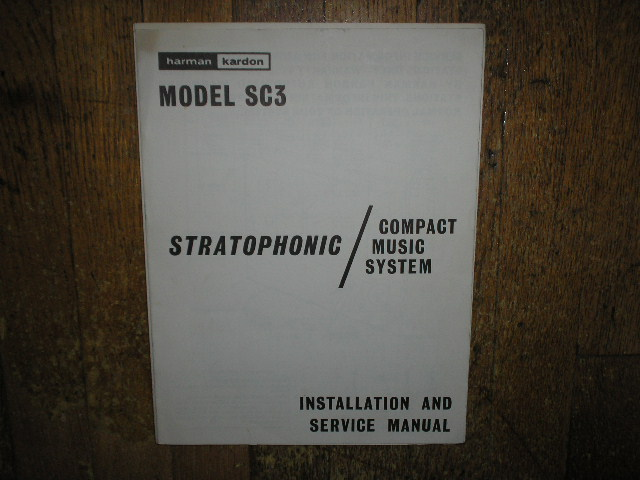 SC3 Stratophonic Compact Music System Service Information
