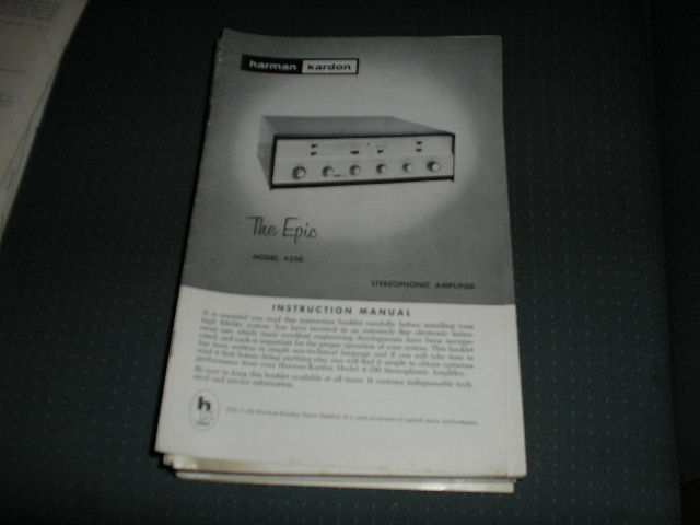 A250 The Epic Stereo Amplifier Manual with schematic