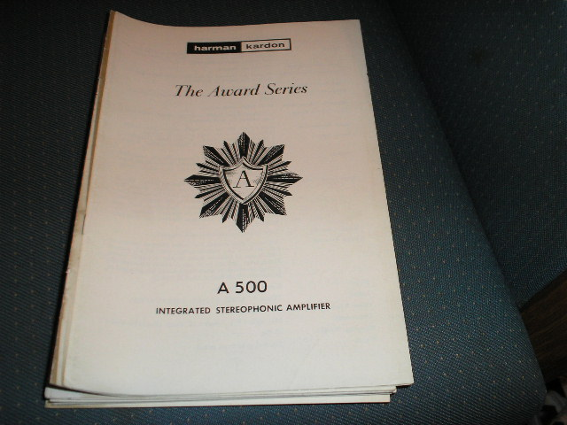 A500 Stereo Amplifier Service Manual with schematic