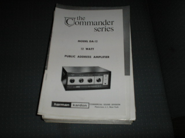 DA-12 P A   Amplifier Service Manual with schematic