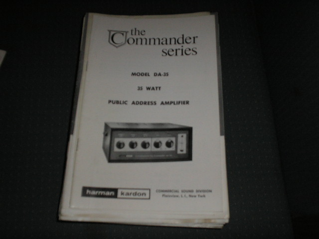DA-35 P.A. Amplifier Service Manual with schematic