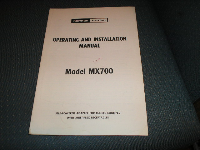 MX700 Self Powered Multiplex Stereo Adapter Manual with schematic