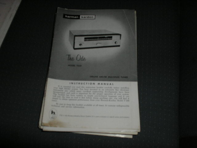 T250 The Ode AM FM Multiplex Tuner manual with schematic