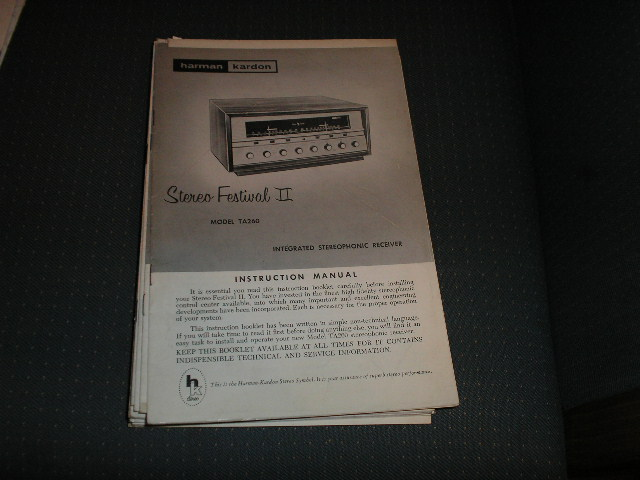 TA260 Stereo Festival 2 Receiver manual with schematic