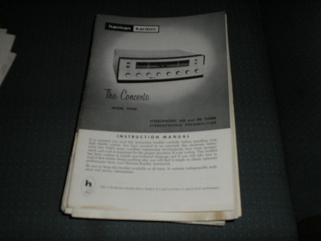 TP200 The Concerto AM FM Tuner  Pre-Amplifier manual with schematic